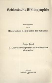 Bibliographie der schlesischen Geschichte
