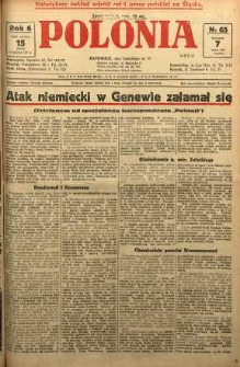 Polonia, 1929, R. 6, nr 65