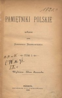 Pamiętniki polskie. T. 1