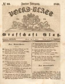 Volks-Blatt für die Grafschaft Glatz, 1841, Jg. 2, No. 23