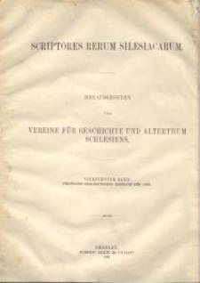 Scriptores rerum silesiacarum. Bd. 14, Politische Correspondenz Breslaus im Zeitalter des Königs Matthias Corvinus. 2. Abt., 1479-1490