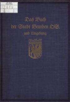 Monographien deutscher Städte. Bd. 15, Beuthen O/S.