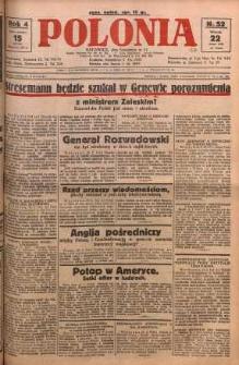 Polonia, 1927, R. 4, nr 52