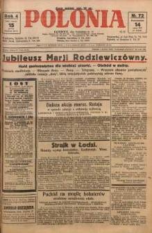 Polonia, 1927, R. 4, nr 72