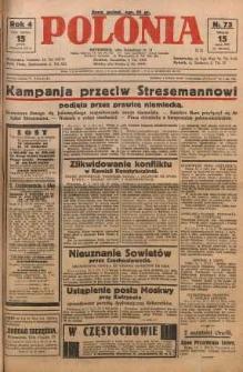 Polonia, 1927, R. 4, nr 73