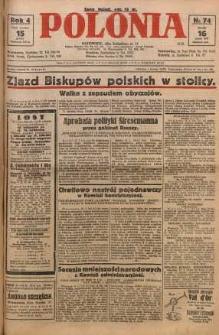 Polonia, 1927, R. 4, nr 74