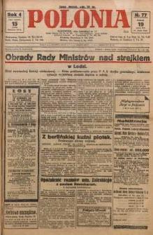 Polonia, 1927, R. 4, nr 77