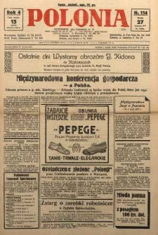 Polonia, 1927, R. 4, nr 114