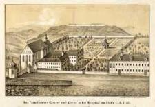 Das Franziscaner-Kloster und Kirche nebst Hospital zu Glatz i. J. 1738