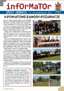 Informator Gminy Zębowice 2017, nr 34.