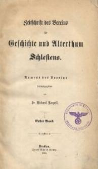 Zeitschrift des Vereins für Geschichte und Alterthum Schlesiens 1855, Bd. 1, H. 1