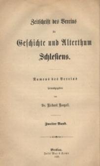 Zeitschrift des Vereins für Geschichte und Alterthum Schlesiens, 1859, Bd. 2, H. 2