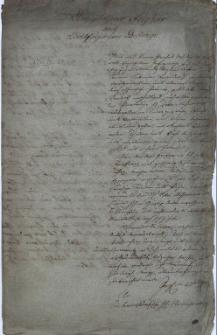 Odpisy pism z 1687 r. dotyczących spraw religijnych w księstwie karniowskim
