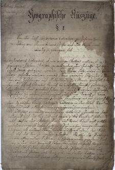 Geographische Auszüge Antonii Gorgosch, Rhetoricae studiosi