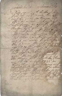 Świadectwo urodzenia Antona Tüll (urodz. 27.01.1722 r.) w Klantendorf (obecnie Kujavy, powiat Nový Jičín) podpisane 18.04.1742 r. przez miejscowego proboszcza Martina Banhen [?]