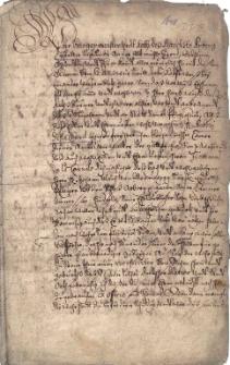 Poświadczenie dobrego urodzenia dla pana Antoniego de la Coaerd, wystawione 17.10.1648 r. przez burmistrza i radę miasteczka Arberg w Bawarii (pow. Ansbach)