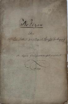 Notizen über die teschner privilegirte Scharfschützenkompagny, die teschner Gimnasialbibliothek gewidmet. A[nn]o 1840
