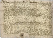 Przywilej księcia cieszyńskiego Wacława z 4.02.1566 r. potwierdzający statuty cechowe cechu kuśnierzy w Cieszynie