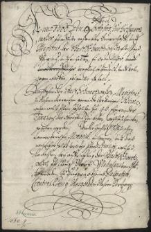 Ugoda pomiędzy regentem Komory Cieszyńskiej Janem Henrykiem Kosiglowskim von Geißenfels, a magistratem i cechami miasta Strumienia, że od 1660 r. miasto nie będzie zobowiązane szynkować rocznie 40 wiader książęcego wina, co narzucił im dokument króla Władysława Jagiellończyka z 1503 r., w zamian za roczną opłatę w wysokości 50 guldenów - 9.10.1660 r.