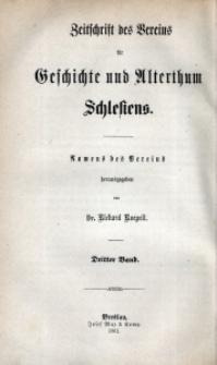 Zeitschrift des Vereins für Geschichte und Alterthum Schlesiens, 1861, Bd. 3, H. 2