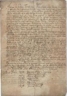 Krótki opis dziejów Orłowej i opactwa benedyktynów w języku łacińskim