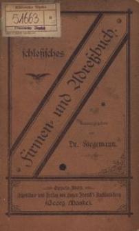 Oberschlesisches Firmen- und Adressbuch