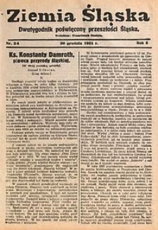 Ziemia Śląska, 1931, R. 5, nr24