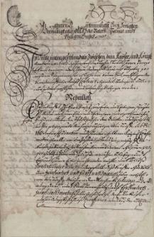 Odpis umowy zawartej 2.02.1659 r. pomiędzy Jerzym von Eckhart, regentem Komory Cieszyńskiej, a byłym burmistrzem Cieszyna Andrzejem Wildau, mocą której Eckhart sprzedaje Wildau'owi posiadany przez siebie dom wolny pod zamkiem w Cieszynie wraz z winnym listem za 600 talarów śląskich, uwierzytelniony 14.08.1688 r.