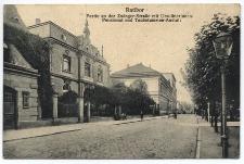 Ratibor. Partie an der Zwinger-Strasse mit Ursulinerinnen-Pensionat und Taubstummen-Anstalt