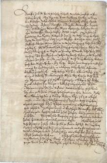 Wyrok sądu ziemskiego w Cieszynie z 20.11.1652 r. w sporze pomiędzy Ewą Czelo a jej siostrą Katarzyną Bludowską z domu Czelo, w sprawie podziału spadku po ich ojcu [Jerzym Czelo]