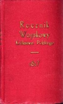 Rocznik Woyskowy Królestwa Polskiego. Na rok 1817