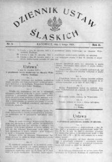 Dziennik Ustaw Śląskich, 01.02.1923, R. 2, nr 5