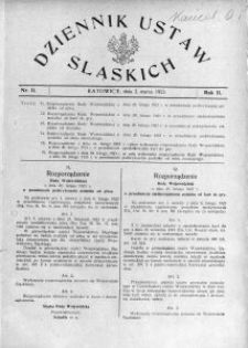 Dziennik Ustaw Śląskich, 02.03.1923, R. 2, nr 11