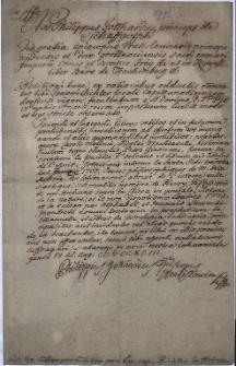 Pismo biskupa wrocławskiego Filipa Gottharda Schaffgotscha, zezwalające Janowi Richterowi, lokaliście w Jasienicy, na czytanie książek znajdujących się na indeksie ksiąg zakazanych