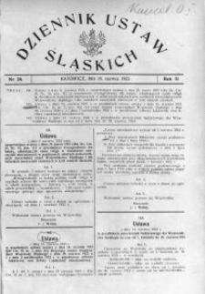 Dziennik Ustaw Śląskich, 26.06.1923, R. 2, nr 24