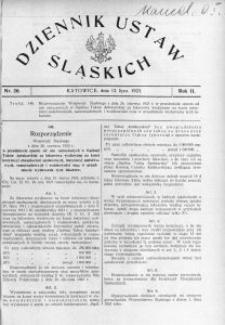 Dziennik Ustaw Śląskich, 12.07.1923, R. 2, nr 26