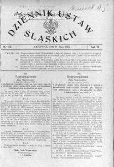 Dziennik Ustaw Śląskich, 14.07.1923, R. 2, nr 27