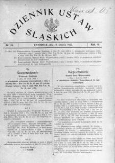 Dziennik Ustaw Śląskich, 10.08.1923, R. 2, nr 33