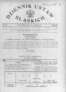 Dziennik Ustaw Śląskich, 28.09.1923, R. 2, nr 35