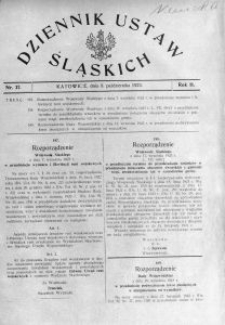Dziennik Ustaw Śląskich, 08.10.1923, R. 2, nr 37