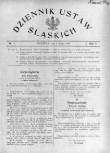 Dziennik Ustaw Śląskich, 01.02.1924, R. 3, nr 3