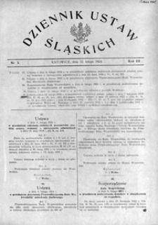 Dziennik Ustaw Śląskich, 22.02.1924, R. 3, nr 5