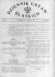 Dziennik Ustaw Śląskich, 11.03.1924, R. 3, nr 7