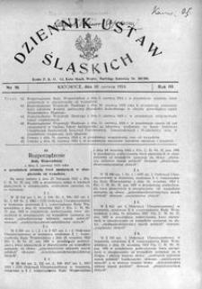 Dziennik Ustaw Śląskich, 30.06.1924, R. 3, nr 16