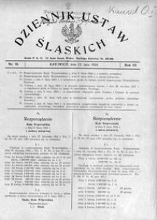 Dziennik Ustaw Śląskich, 23.07.1924, R. 3, nr 18