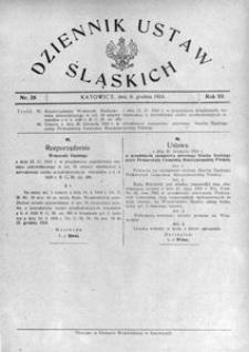 Dziennik Ustaw Śląskich, 06.12.1924, R. 3, nr 26