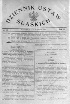 Dziennik Ustaw Śląskich, 30.12.1924, R. 3, nr 28