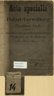 Dokumentacja budowlana archiwum miejskiego w Bytomiu, Pl. Grunwaldzki 14