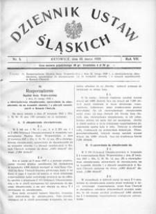 Dziennik Ustaw Śląskich, 10.03.1928, R. 7, nr 5