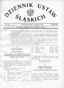 Dziennik Ustaw Śląskich, 11.04.1928, R. 7, nr 9
